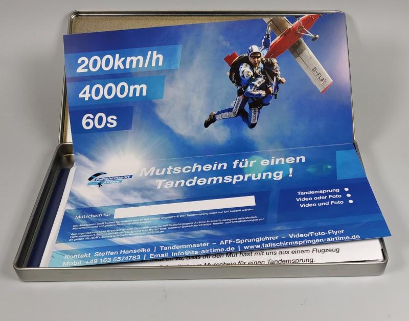 Mutschein + Geschenkverpackung